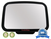 Baby Back Seat Mirror - Shatterproof & Cadmium Free - No Centre Headrest Required - Extra Large Rear Seat Car Mirror for Baby - 360-degree Adjustable Mirror Rotates and Pivots for that Perfect Viewing Angle - Larger than other brands and provides full ..