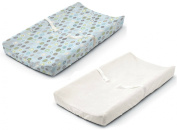 Summer Infant Ultra Plush Changing Pad Cover, Set of 2, Blue Swirl/White
