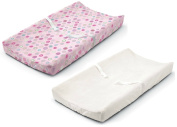 Summer Infant Ultra Plush Changing Pad Cover, Set of 2, Pink Swirl/White
