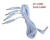 10pcs DC3.5mm Electrode Wires Tens EMS Machine 4-pin Cables Connexion 3.5mm Reusable 2mm Plug in Long-life Massage Machine