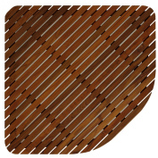 Bare Decor Erika Corner Shower Spa Mat in Solid Teak Wood and Oiled Finish, X-Large, 80cm x 80cm
