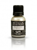 Ready-to-use Metallic Pearlescent Ivory 100% Edible Food Paint for Cake and Icing Decoration