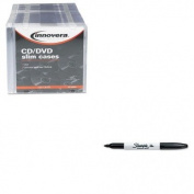 KITIVR85800SAN30001 - Value Kit - Innovera CD/DVD Polystyrene Thin Line Storage Case (IVR85800) and Sharpie Permanent Marker