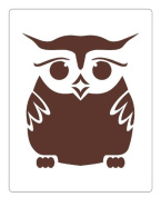 Faux Like a Pro Owl Stencil, 14cm by 18cm , Single Overlay