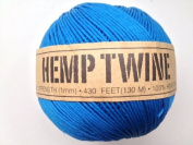 Blue Hemp Twine Cord 1mm 143yd 130m 430ft DIY