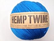 Blue Hemp Twine Cord 1mm 143yd 130m 430ft DIY