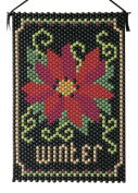 Winter Poinsettia Beaded Banner Kit Beadery Craft Products 7139 Pony Beads