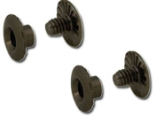 Tandy Leather Open Back 0.3cm Black Screw Posts 1296-04 -- TWO 10 Packs