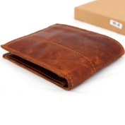 Men Money Vintage Original Genuine Leather Slim Wallet Coin Natural Pocket Purse Au Retro Style.