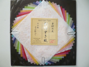Japanese Handmade Paper Decorative Craft Rainbow Colours - 16 Pieces