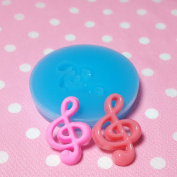 Kawaii Cute Music Notes Auxiliary Soprano Fondant Silicone Mould for Cake Cookie Decorating Chocolate Soap Epoxy Clay Fimo Clay 010LBP