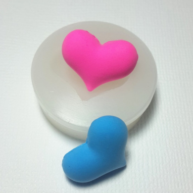 Puffy Heart Fondant Silicone Mould for Cake Decorating Chocolate Soap Clay Fimo Clay