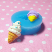 Kawaii Cute Fruit Sauce Ice Lolly Popsicle Ice Cream Ice Shaved Fondant Silicone Mould for Cake Cookie Phone CellPhone Decorating Chocolate Soap Epoxy Clay Fimo Clay 023LBX