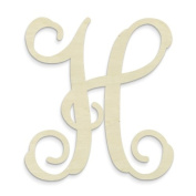 "UNFINISHEDWOODCO Single Vine Monogram Unfinished Letter, 50cm , Letter ""H"""