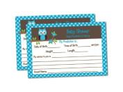 Baby Shower Advice & Prediction Cards for Mom Blue Owl Games