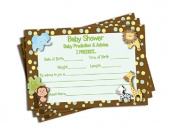 Baby Shower Advice & Prediction Cards for Mom Jungle Themed