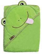 Extra Large 100cm x 80cm Absorbent Hooded Towel, Green Frog, Frenchie Mini Couture