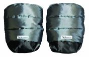 7 A.M. Enfant Stroller Hand Warmers for Parents and Caregivers, Metallic Silver/Metallic Charcoal
