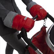 7AM Enfant Stroller WarMMuffs for Parents and Caregivers, Red/Grey