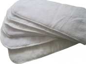 6 Pack 100% Microfiber Inserts for Cloth Nappies Reusable Washable Large 36cm X 13cm