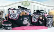 Soho Collection, Zebra Nappy Bag 5 Pieces Set