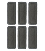 LOVE MY(TM) 5 Layer Charcoal Bamboo Inserts Reusable Liners for Cloth Nappies include 6 pieces