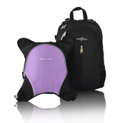 Obersee Rio Nappy Bag Backpack with Detachable Cooler, Black/Purple