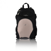 Obersee Rio Nappy Bag Backpack with Detachable Cooler, Black/Bubble Gum