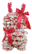 Stephan Baby Ruffled Flapper Top and Nappy Cover, Pink Roses, 6-12 Months