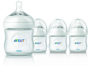 Philips AVENT BPA Free Natural Polypropylene Bottle, 120ml, 4 Pack