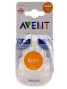 Philips Avent Airflex Silicone Nipple Fast Flow Bottle Teat 6m+ 6 Months 2-pack Good Gift for Mom and Baby. Ship Worldwide