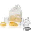Medela Breastmilk Bottle Spare Parts WITH Three Medium-Flow Wide Base Nipples