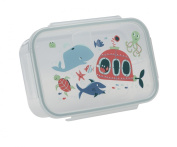SugarBooger Good Lunch Box Divided Lunch Container, Ocean