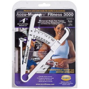 Accu-Measure Fitness 3000 Body Fat Calliper & Measure Chart - Retail Packaged