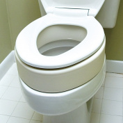 Elongated Toilet Seat Riser - Easy Installation - Raises Your Seat 8.9cm