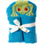 Breganwood Organics Kids Hooded Towel, Silly Frog Rainforest Collection