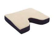 Essential Medical Supply Fleece Covered Coccyx Cushion, 46cm X 41cm X 7.6cm