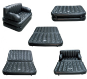 SAVE 25% __ Labour Day Weekend Blowout __ While Supplies Last __ Reg. $69.99 Quick Luxe ® Multi Functional Inflatable Fun Sofa w/Queen Size Pullout Mattress in Black
