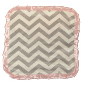 Caught Ya Lookin' Baby Thumb Blanket, Girls Grey and White Chevron