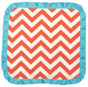 Caught Ya Lookin' Baby Thumb Blanket, Coral and White Chevron