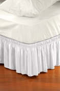 Adorable Bedding Dust Ruffle - 41cm Cotton Bed Skirt, Twin - White