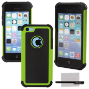 xhorizon TM Heavy Duty High Impact Shockproof Dirtproof Hard + Soft Defender Case Cover For iPhone 5C