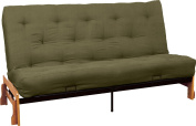 Epic Furnishings 25cm Loft Innerspring Springaire Microfiber Suede/Twill Cased Futon, Full, Olive Green
