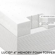 LUCID 10cm Ventilated Memory Foam Mattress Topper - 3-Year Warranty - Full XL