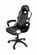 Arozzi Enzo Series Gaming Racing Style Swivel Chair, Black/White