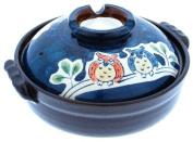 Kotobuki 190-972D Owl Family Donabe Japanese Hot Pot, 25cm