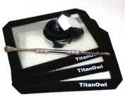 3 Silicone Mat & 1 Jar Slick Non-Stick, with Wax/Oil Carving Tool , Extract Pad with black corners 14cm x 11cm