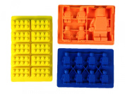 Silicone Mould for LEGO lovers - Use for soap making, fondant tools, chocolate moulds, hard candy kit and as an ice cube tray - Make building bricks and mini-figures as party favours and cake toppers - Guaranteed family fun in your kitchen! +*BONUS*