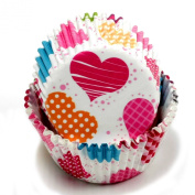 Chef Craft 50 Count Cupcake Liners, Multicoloured Hearts