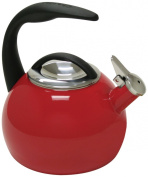 Chantal 40th Anniversary 1.9l Enamel on Steel Teakettle, Chile Red